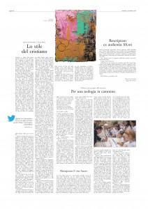 L'Osservatore Romano del 14/09/2018