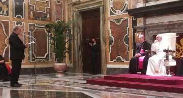 Udienza privata di papa Francesco per i partecipanti al convegno